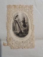 (U2) Prière Souvenir En Papier Dentellé Très Fragile : Jésus Apparaît Avec Sa Croix à Un Fidèle. - Devotion Images