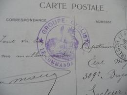 Sur CPA Union Des Société De Tir De France 1915 Cachet Militaire Bleu Groupe Cycliste Trésors Postes 77 1916 - Guerra Del 1914-18