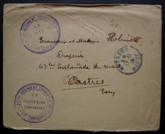Mogador 1915 (Maroc) 127e Régiment Territorial D'infanterie 11e Compagnie , Lettre Pour Castres - Marokko (1891-1956)