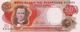 Philippines P.145b 20 Piso 1969  Unc - Filippine