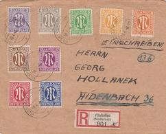 Allemagne Bizone Lettre Recommandée Vilshofen 1946 - Bizone