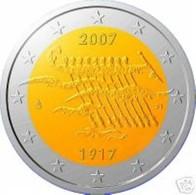Finland 2007    2 Euro Commemo  90 Jaar Onafhankelijkheid  UNC Uit De Rol  UNC Du Rouleaux  ZEldzaam Extreme Rare !! - Finlande