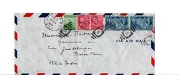 USA ETATS UNIS AFFRANCHISSEMENT COMPOSE SUR LETTRE DE NEW YORK POUR LA GUADELOUPE 1944 - Vereinigte Staaten