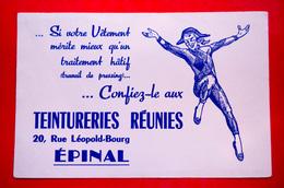 Buvard TEINTURERIES RÉUNIES, Arlequin, Épinal, Vosges - Buvards, Protège-cahiers Illustrés