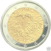 Finland 2008    2 Euro Commemo  Mensenrechten   UNC Uit De Rol  UNC Du Rouleaux  ZEldzaam Extreme Rare !! - Finlande
