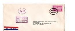USA ETATS UNIS AFFRANCHISSEMENT COMPOSE SUR LETTRE RECOMMANDE AR DE NEW YORK POUR LA FRANCE 1957 - Lettres & Documents