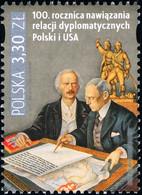 Poland 2019 Fi 5030 Mi 5180 100th Anniversary Of Establishing Diplomatic Relations Between Poland And The USA - 1944-.... República