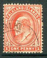 Falkland Islands 1904-1912 KEVII 1d Vermilion Used (SG 44) - Falklandeilanden
