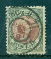 Nederland 1896 Prinses Wilhelmina Hangend Haar 5 Gld Bronsgroen En Roodbruin NVPH 48 Gebruikt - Period 1891-1948 (Wilhelmina)