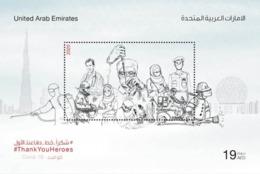 United Arab Emirates / UAE  2020- COVID 19 - Coronavirus Souvenir Sheet MNH - United Arab Emirates