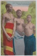 Jeunes Dahoméennes Dahomey AOF Nu Féminin Afrique Noire Seins Nus Scarification Fortier - Süd-, Ost-, Westafrika