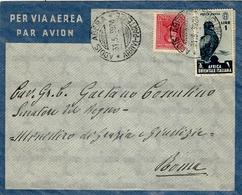 1939- Enveloppe Par Avion D'ADDIS ABEBA  Affr. à 1,75 Lit Pour Roma - Eastern Africa
