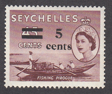 Seychelles 1957 5c On 45c   SG191    MVLH - Seychellen (...-1976)
