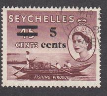 Seychelles 1957 5c On 45c   SG191    Used - Seychelles (...-1976)