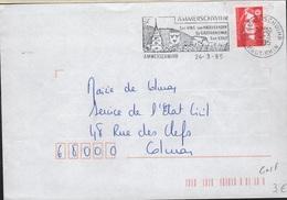 GOLF-L12 - FRANCE Flamme Sur Lettre AMMERSCHWIHR Son Golf Sa Gastronomie, Ses Vins 1995 - Marcophilie (Lettres)