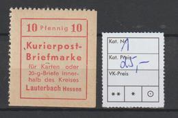 Lauterbach, Gezähnt ** (MNH) - Germany