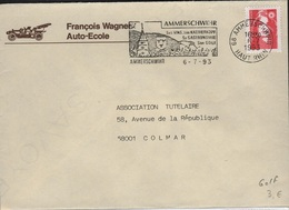 GOLF-L13 - FRANCE Flamme Sur Lettre AMMERSCHWIHR Son Golf Sa Gastronomie, Ses Vins 1993 - Marcophilie (Lettres)
