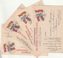 ****  7 Cartes (5 Représentés +2 )  Drapeaux écrite Par Le Même Soldat - Guerre 1914-18