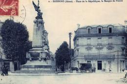 SOISSONS : Place De La Republique, La Banque De France - Etat - Banken