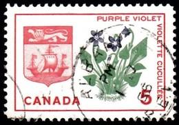 CANADA - Scott #421 Provincial Badge, New Brunswick 'Postmark ALBANI' (1) / Used Stamp - 1952-.... Règne D'Elizabeth II