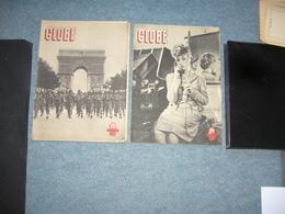 ( Guerre 1939-1945 )  Globe N° 1 & N° 2 1944 - Libros, Revistas, Cómics