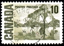 CANADA - Scott #462 The Jack Pine By Tom Thompson 'Postmark PHILIPSBURG' (1) / Used Stamp - 1952-.... Règne D'Elizabeth II
