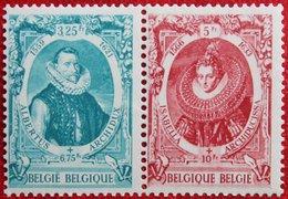 Historische Figuren Zegels Uit Block 1941 1942 OBP 581A-582A  (Mi 609-610) Ongebruikt/ MH BELGIE BELGIUM - Unused Stamps