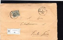 CG37 - Busta Da Varallo Per Prato Sesia 4/11/1904 - Raccomandata - Storia Postale