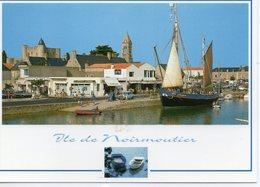 Ile De Noirmoutier Le Port Le Château L'Eglise Saint-Philibert Bateaux Voiliers - Ile De Noirmoutier