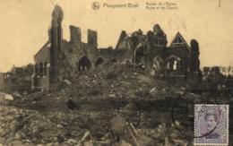 E 0024 - Belgique     Ploegsteert- Bizet    Ruines De L'Eglise - Other