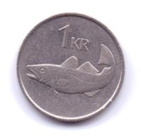 ICELAND 1984: 1 Krona, KM 27 - Iceland
