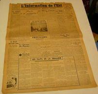 L'Information De L'Est Du 22 Octobre 1943 - Revues & Journaux
