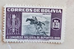 BOLIVIE Chevaux, Cheval, Horse, Caballo, Hippisme, Saut D'obstacles. 1 Valeur  * MLH (1948) - Horses