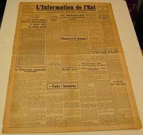 L'information De L'Est Du 3 Septembre 1943. - Revues & Journaux