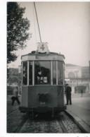 "LYON : ""photo Environ 1950 Format Et Papier CPA"" Tramway 84 Ligne 4 Parc - Tres Bon Etat - Lyon"