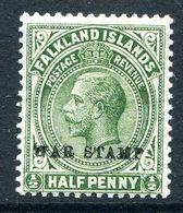 Falkland Islands 1918-19 KGV War Stamp -  ½d Green HM (SG 70/a/b/c) - Falklandeilanden