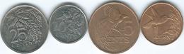 Trinidad & Tobago - 2001 - 1 & 5 Cents; 1999 - 10 & 25 Cents - Trinité & Tobago