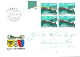 "FDC  ""75 Jahre Gotthardbahn""            1957 - Cartas"