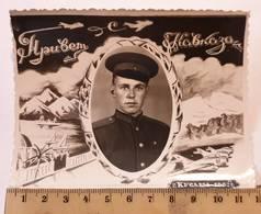 Photo Originale. L'original. Pilote De L'armée Soviétique. Caucase URSS - Guerre, Militaire