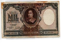 Billete De 1000 Pesetas 1940 - [ 3] 1936-1975 : Régence De Franco