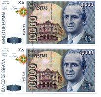 2 Billetes De 10000 Pesetas De 1992 - [ 4] 1975-… : Juan Carlos I