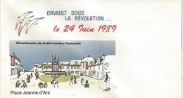 ENVELOPPE ORVAULT (44)  Sous La Révolution. Bicentenaire Le 24 Juin 1989 - Autres