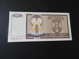 1 Banknote Bosnien-Herzigoivne 10 Dinara 1992 - Bosnia Y Herzegovina