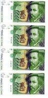 4 Billetes De 1000 Pesetas De 1992 - [ 4] 1975-… : Juan Carlos I