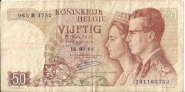 BELGIQUE - 50 Francs 1966 - [ 6] Schatzamt
