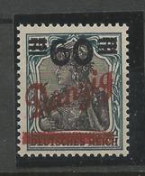 Danzig  1921 Mi.Nr.:72 Germania Overprint 60/75 Pfg Mint Never Hinged Xx - Danzig