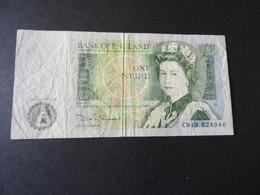 1 Banknote England  1 Pound   O.Datum Gebr. - 1 Pound
