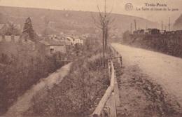 Trois-Ponts La Salm Et Route De La Gare Circulée En 1927 - Trois-Ponts