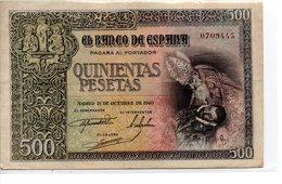 Billete De 500 Pesetas Año 1940 - [ 3] 1936-1975 : Regime Di Franco