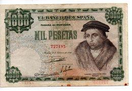 Billete De  1000 Pesetas Año 1946 - 1000 Pesetas
